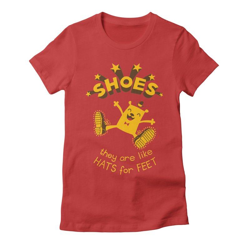 SHOES Women's Fitted T-Shirt by My Life is a Patchwork of Regrets