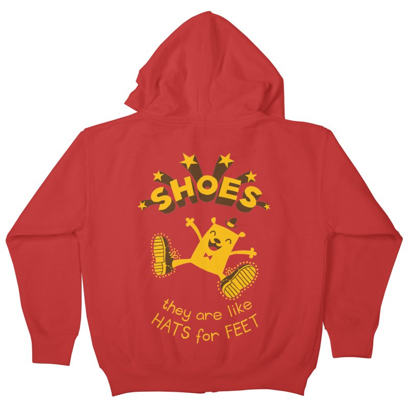 SHOES Kids Zip-Up Hoody by My Life is a Patchwork of Regrets