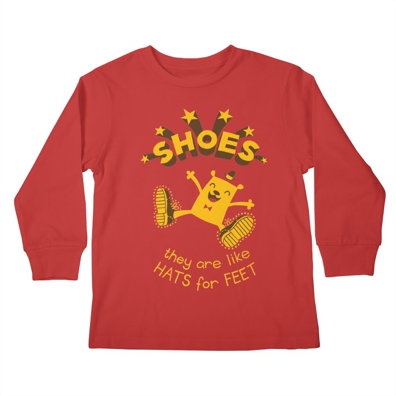 SHOES Kids Longsleeve T-Shirt by My Life is a Patchwork of Regrets