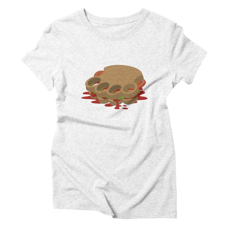 Knuckle sandwich Women's Triblend T-shirt by Erwin's Artist Shop