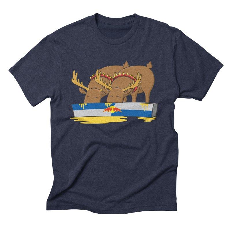 Santa's Secret Men's Triblend T-Shirt by Erwin's Artist Shop