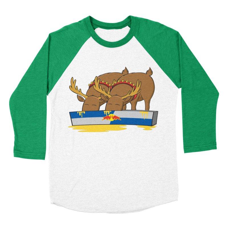 Santa's Secret Women's Baseball Triblend T-Shirt by Erwin's Artist Shop