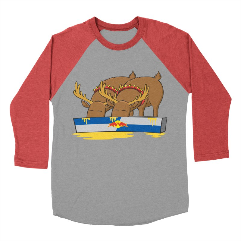 Santa's Secret Women's Baseball Triblend Longsleeve T-Shirt by Erwin's Artist Shop