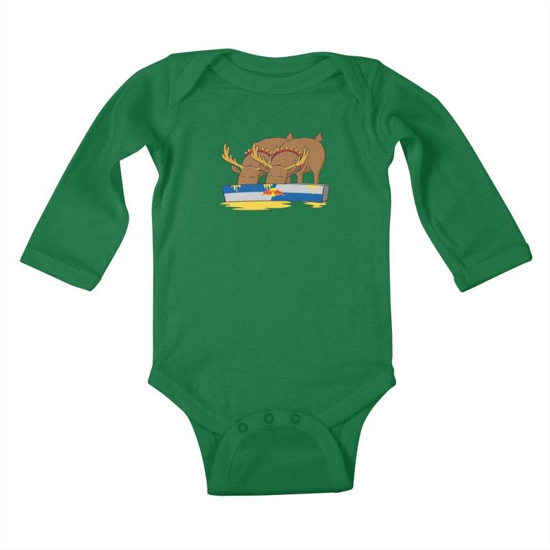 Santa's Secret Kids Baby Longsleeve Bodysuit by Erwin's Artist Shop