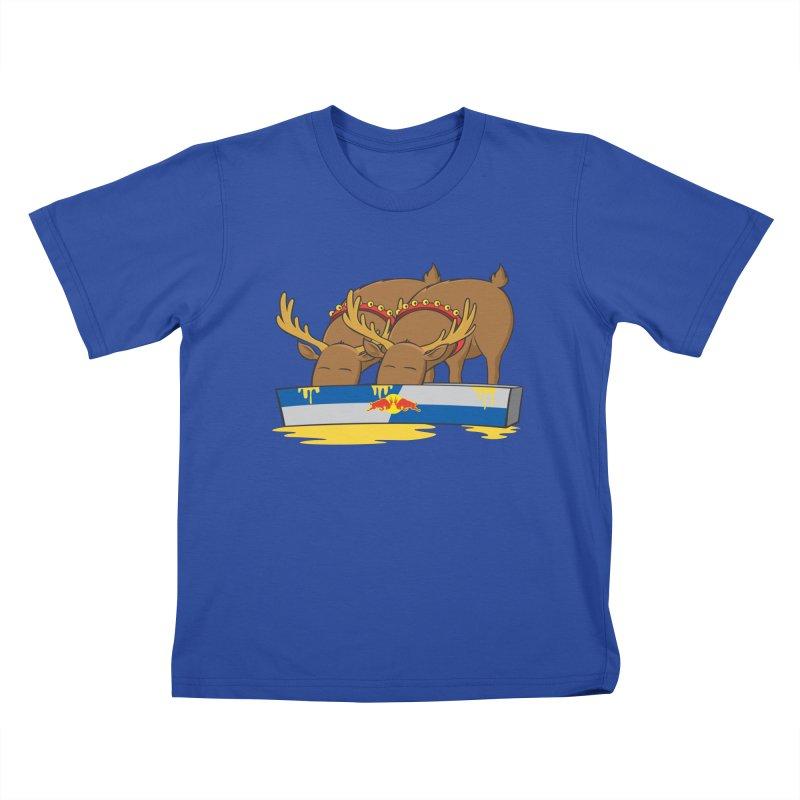 Santa's Secret Kids T-Shirt by Erwin's Artist Shop