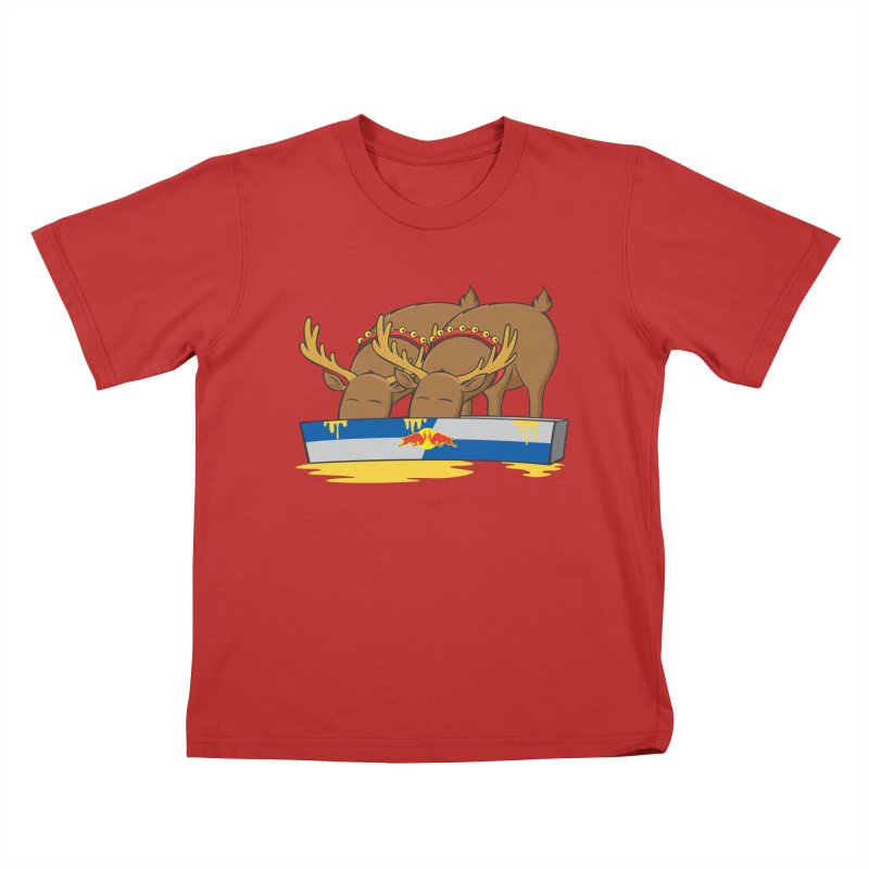 Santa's Secret Kids T-Shirt by Erwin's Artist Shop