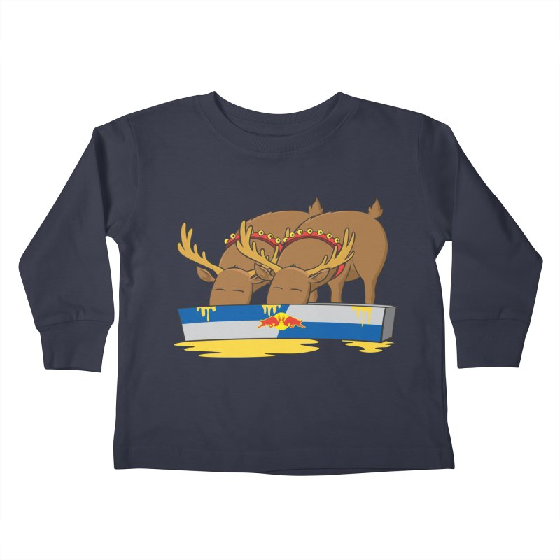 Santa's Secret Kids Toddler Longsleeve T-Shirt by Erwin's Artist Shop