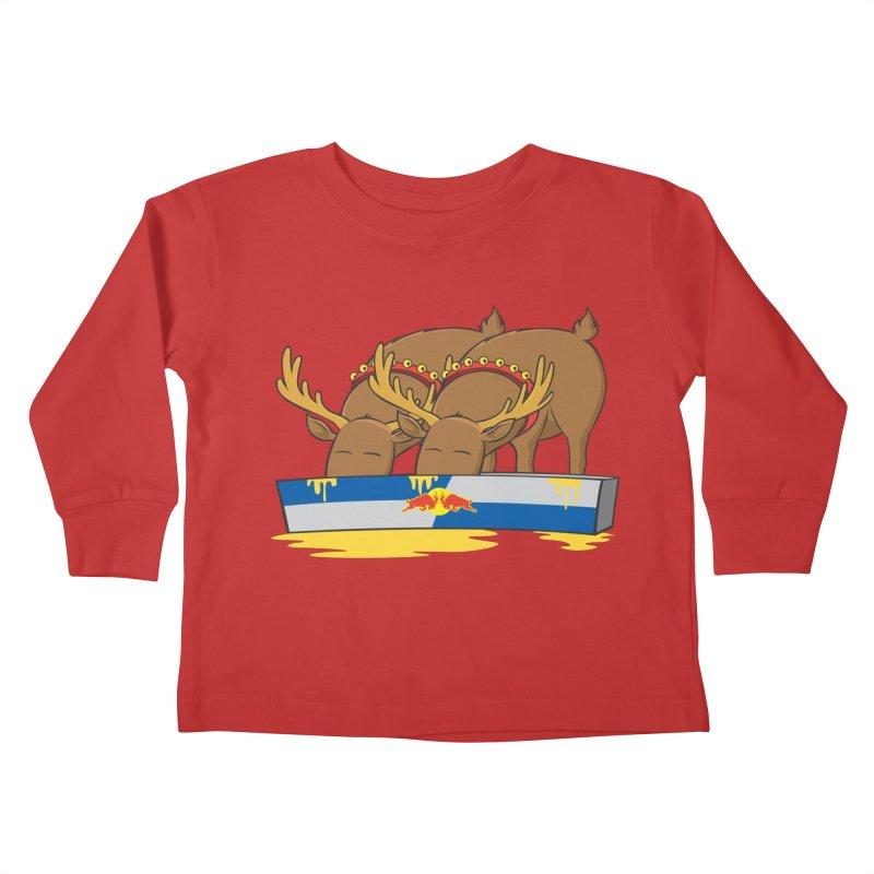 Santa's Secret Kids Toddler Longsleeve T-Shirt by Erwin's Artist Shop