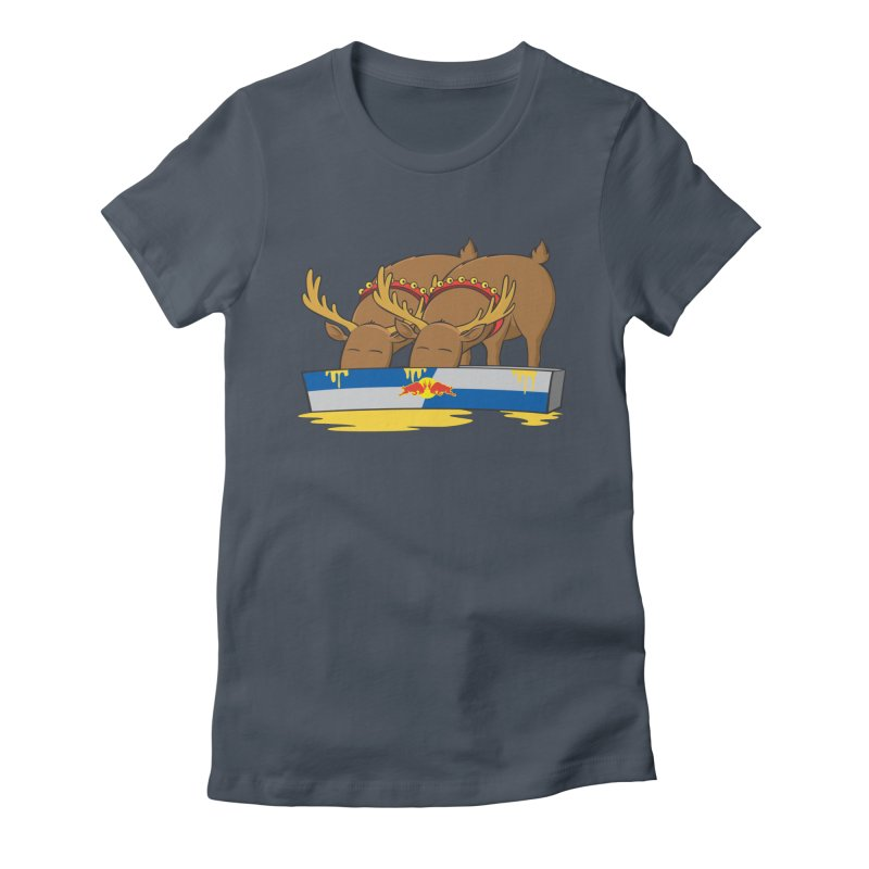Santa's Secret Women's Fitted T-Shirt by Erwin's Artist Shop