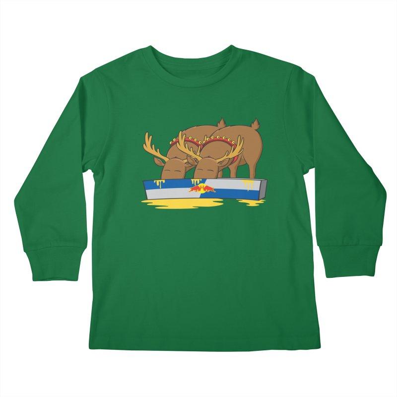 Santa's Secret Kids Longsleeve T-Shirt by Erwin's Artist Shop
