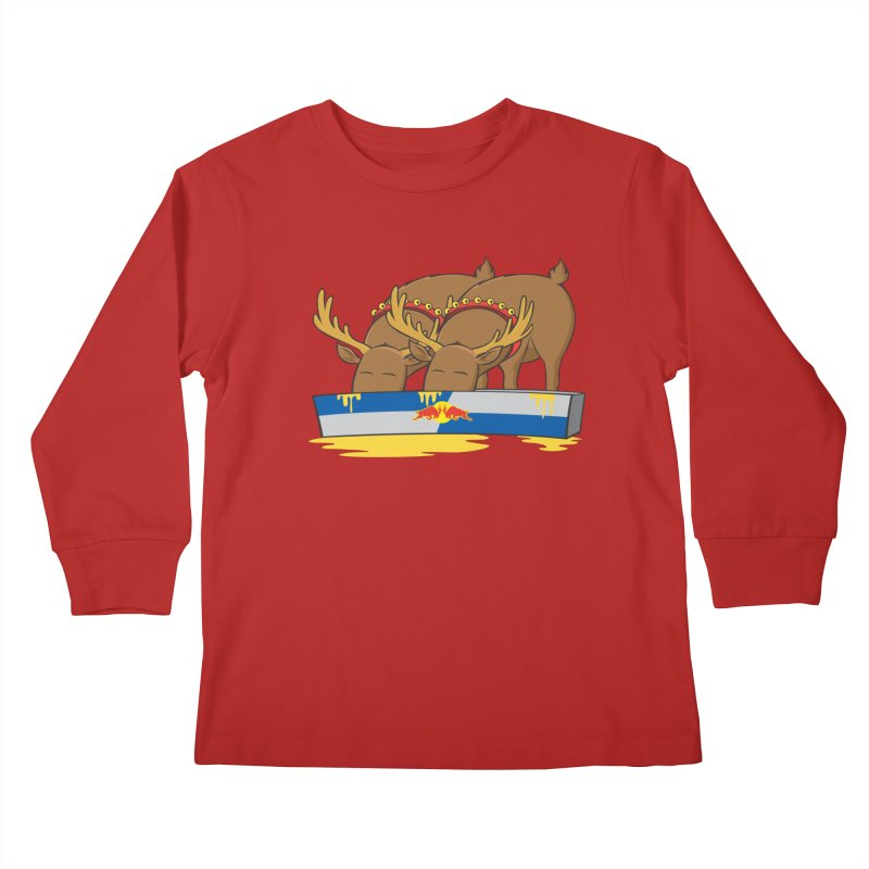 Santa's Secret Kids Longsleeve T-Shirt by Erwin's Artist Shop