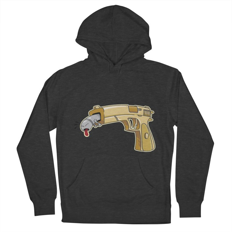 Guns stink! Women's French Terry Pullover Hoody by Erwin's Artist Shop
