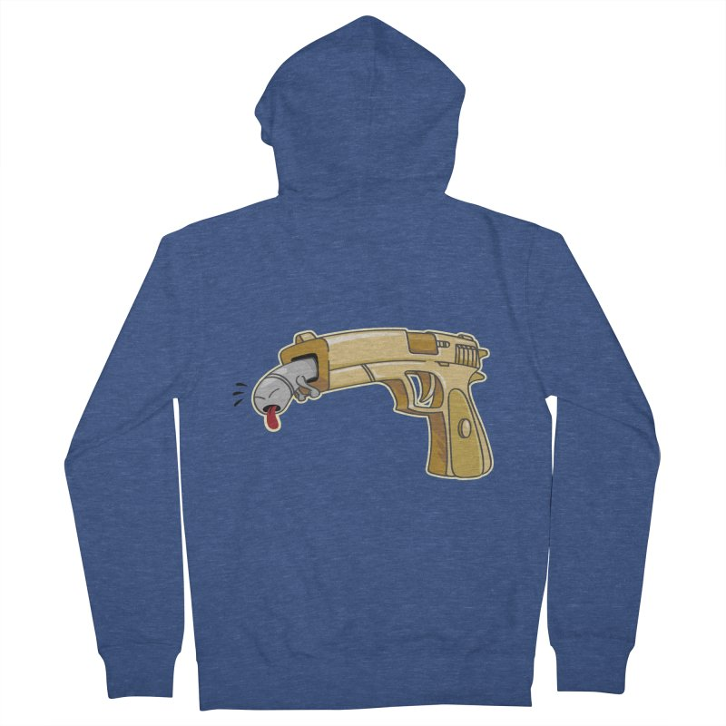 Guns stink! Men's French Terry Zip-Up Hoody by Erwin's Artist Shop