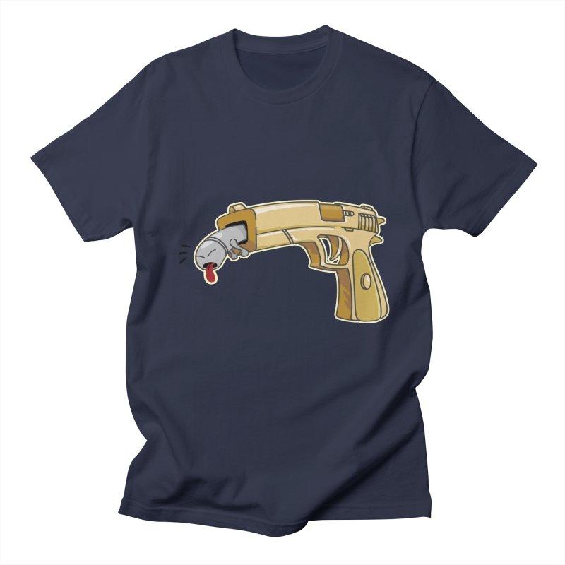 Guns stink! Men's Regular T-Shirt by Erwin's Artist Shop