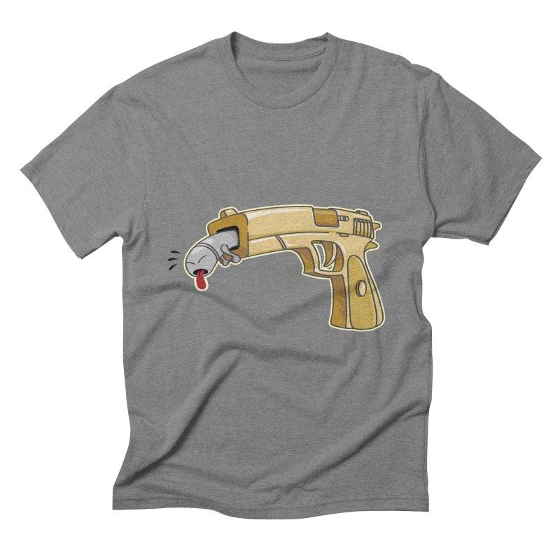 Guns stink! Men's Triblend T-Shirt by Erwin's Artist Shop