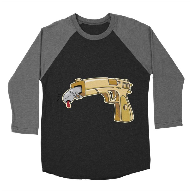 Guns stink! Women's Baseball Triblend T-Shirt by Erwin's Artist Shop