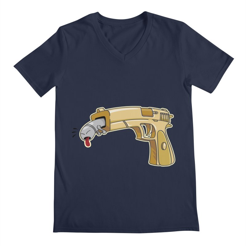 Guns stink! Men's Regular V-Neck by Erwin's Artist Shop