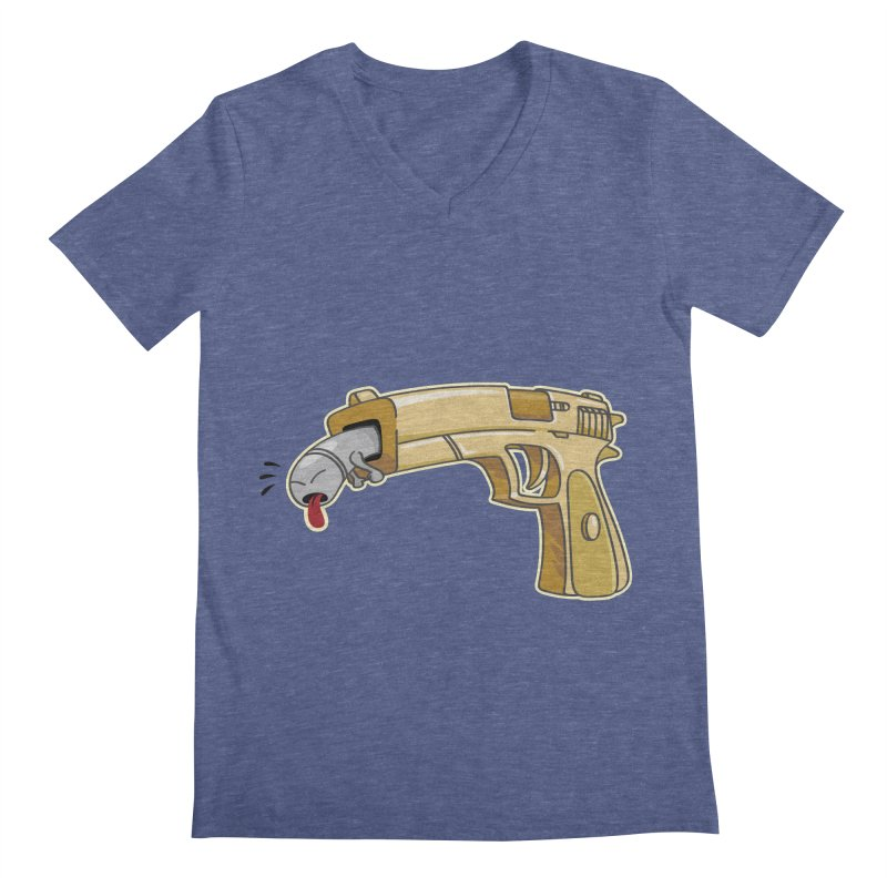 Guns stink! Men's Regular V-Neck by Erwin's Artist Shop