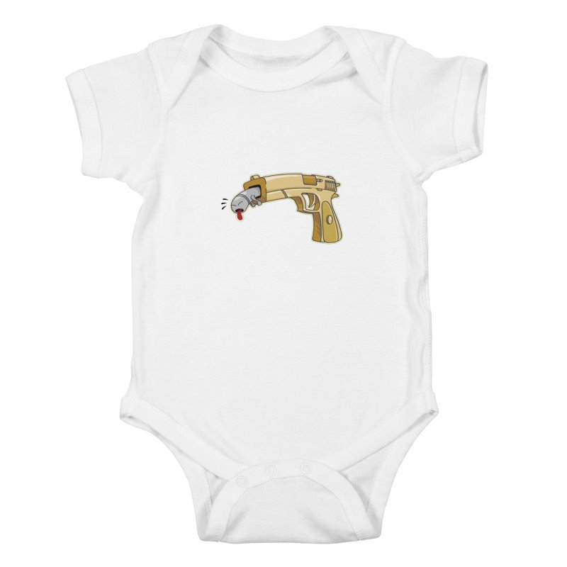 Guns stink! Kids Baby Bodysuit by Erwin's Artist Shop