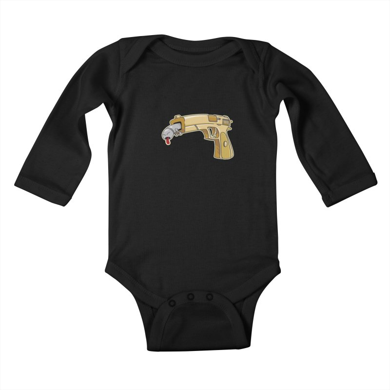 Guns stink! Kids Baby Longsleeve Bodysuit by Erwin's Artist Shop