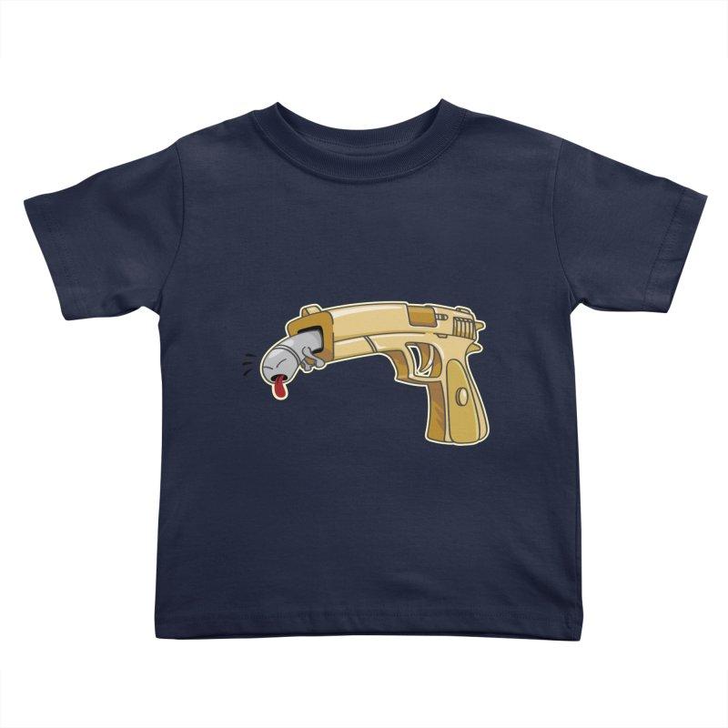 Guns stink! Kids Toddler T-Shirt by Erwin's Artist Shop
