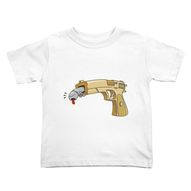 Guns stink! Kids Toddler T-Shirt by Erwin's Artist Shop