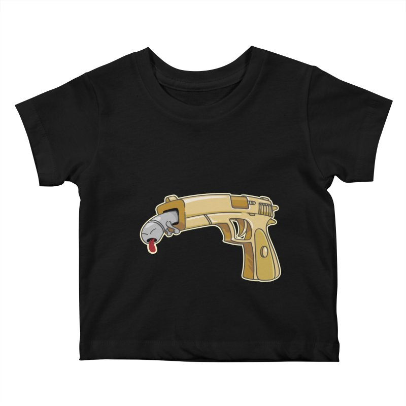 Guns stink! Kids Baby T-Shirt by Erwin's Artist Shop