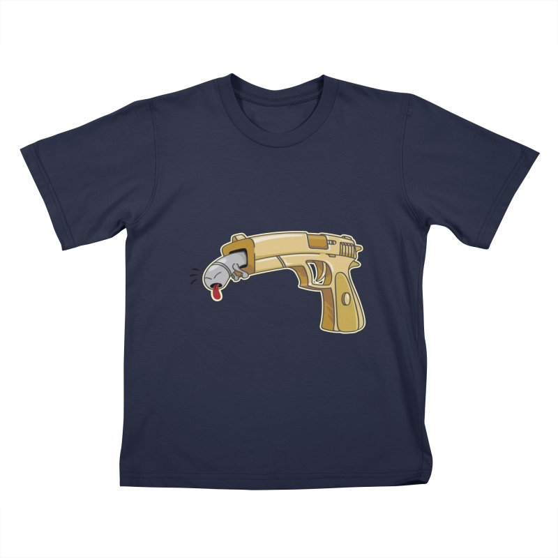 Guns stink! Kids T-Shirt by Erwin's Artist Shop
