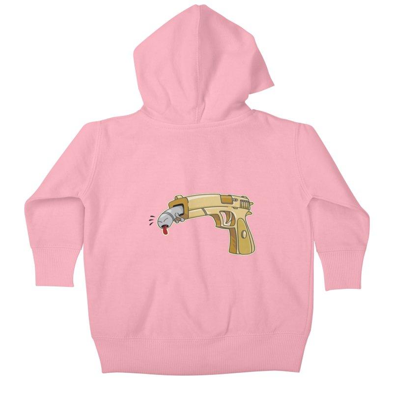 Guns stink! Kids Baby Zip-Up Hoody by Erwin's Artist Shop
