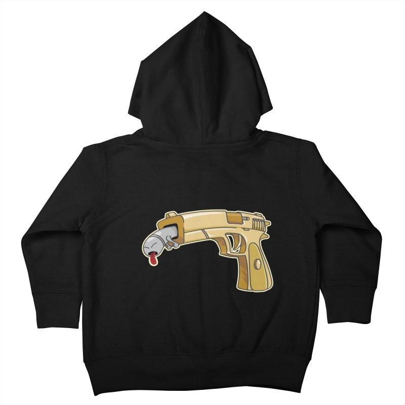 Guns stink! Kids Toddler Zip-Up Hoody by Erwin's Artist Shop