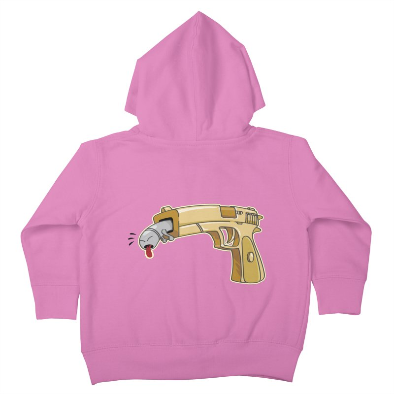 Guns stink! Kids Toddler Zip-Up Hoody by Erwin's Artist Shop