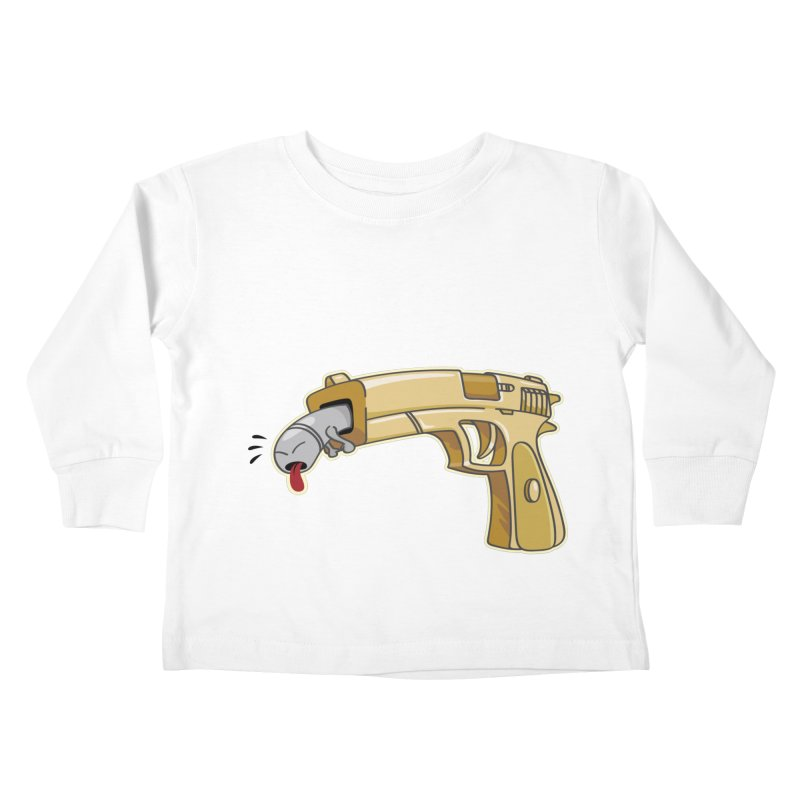 Guns stink! Kids Toddler Longsleeve T-Shirt by Erwin's Artist Shop