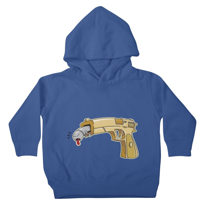 Guns stink! Kids Toddler Pullover Hoody by Erwin's Artist Shop