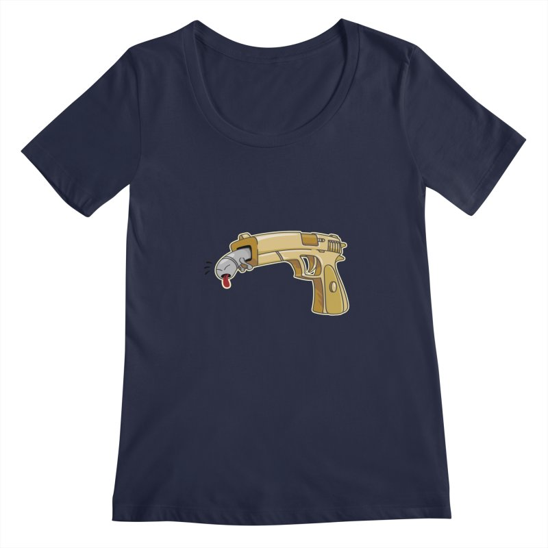 Guns stink! Women's Scoopneck by Erwin's Artist Shop