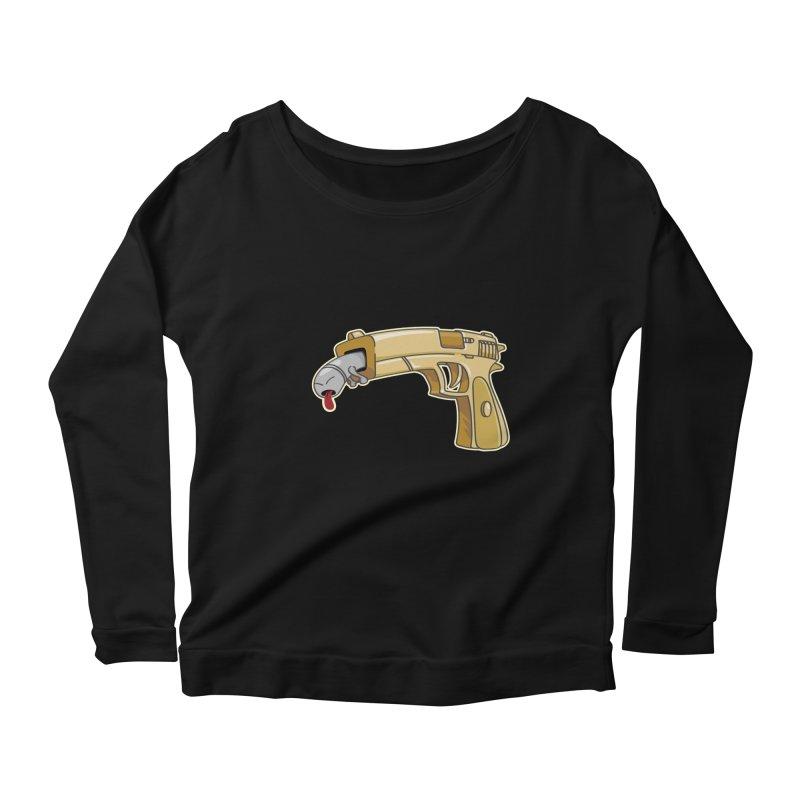 Guns stink! Women's Longsleeve Scoopneck  by Erwin's Artist Shop