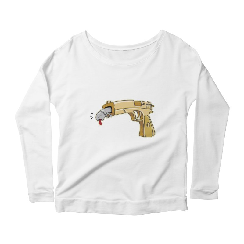 Guns stink! Women's Longsleeve Scoopneck  by Erwin's Artist Shop