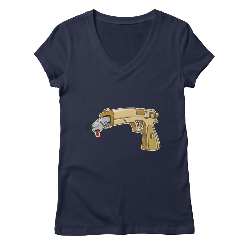 Guns stink! Women's V-Neck by Erwin's Artist Shop