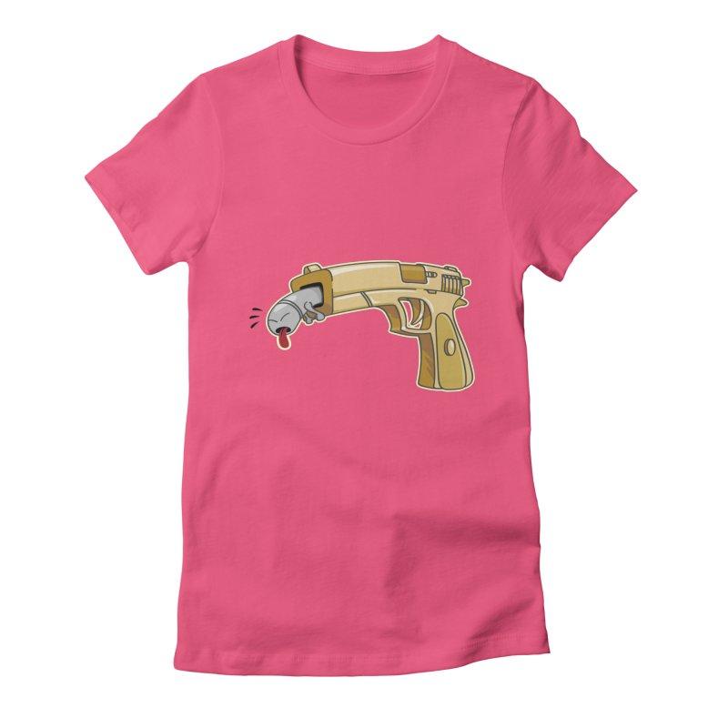 Guns stink! Women's Fitted T-Shirt by Erwin's Artist Shop