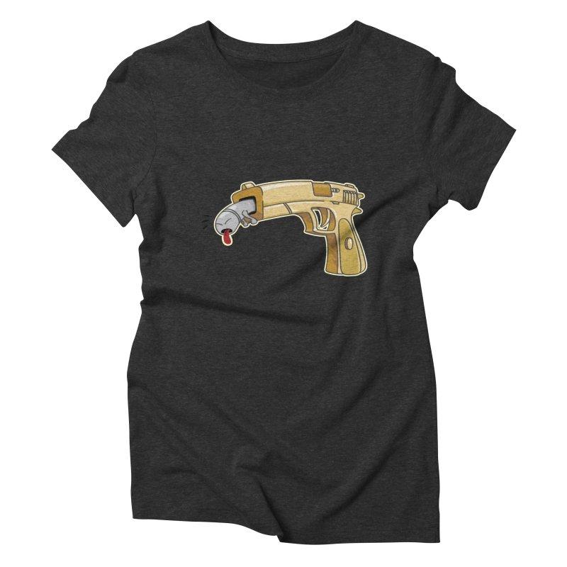 Guns stink! Women's Triblend T-Shirt by Erwin's Artist Shop