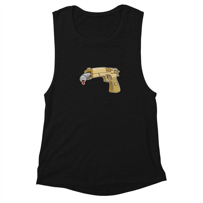 Guns stink! Women's Muscle Tank by Erwin's Artist Shop