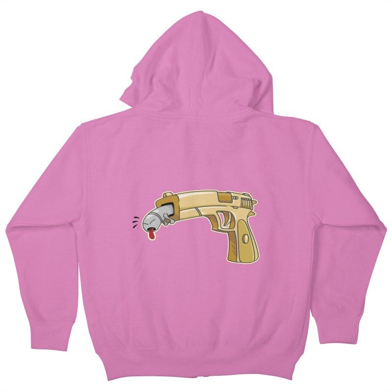 Guns stink! Kids Zip-Up Hoody by Erwin's Artist Shop