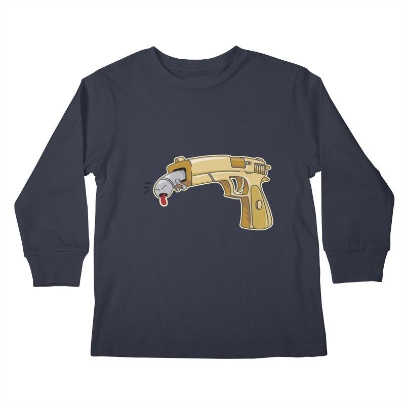 Guns stink! Kids Longsleeve T-Shirt by Erwin's Artist Shop