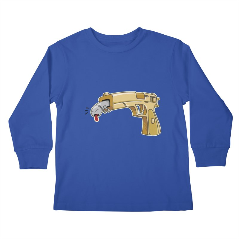 Guns stink! Kids Longsleeve T-Shirt by Erwin's Artist Shop