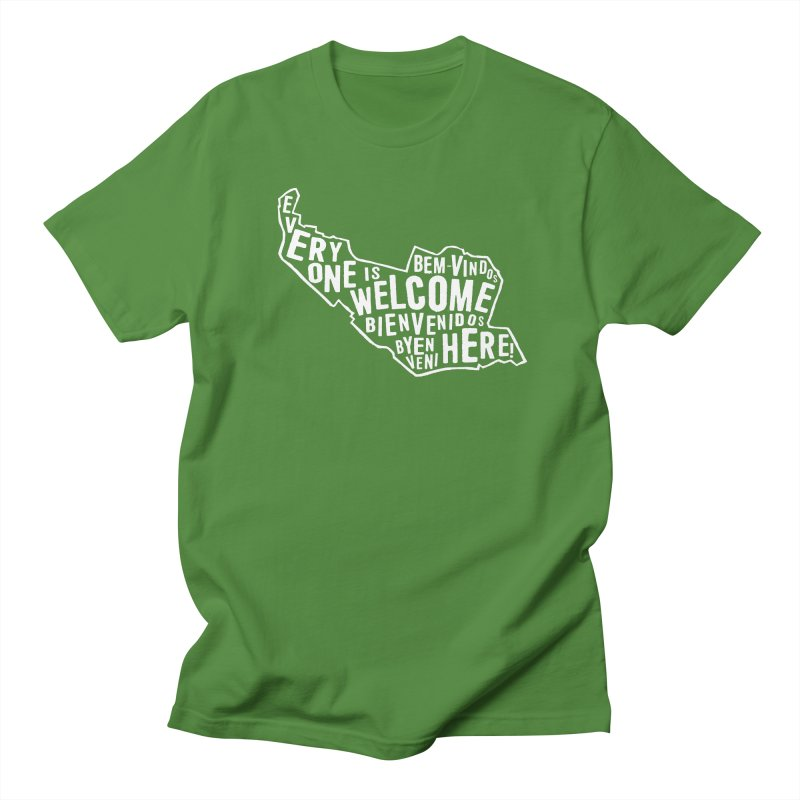 Everyone is Welcome Here - Logo White Men's T-Shirt by ESCS PTA's Shop