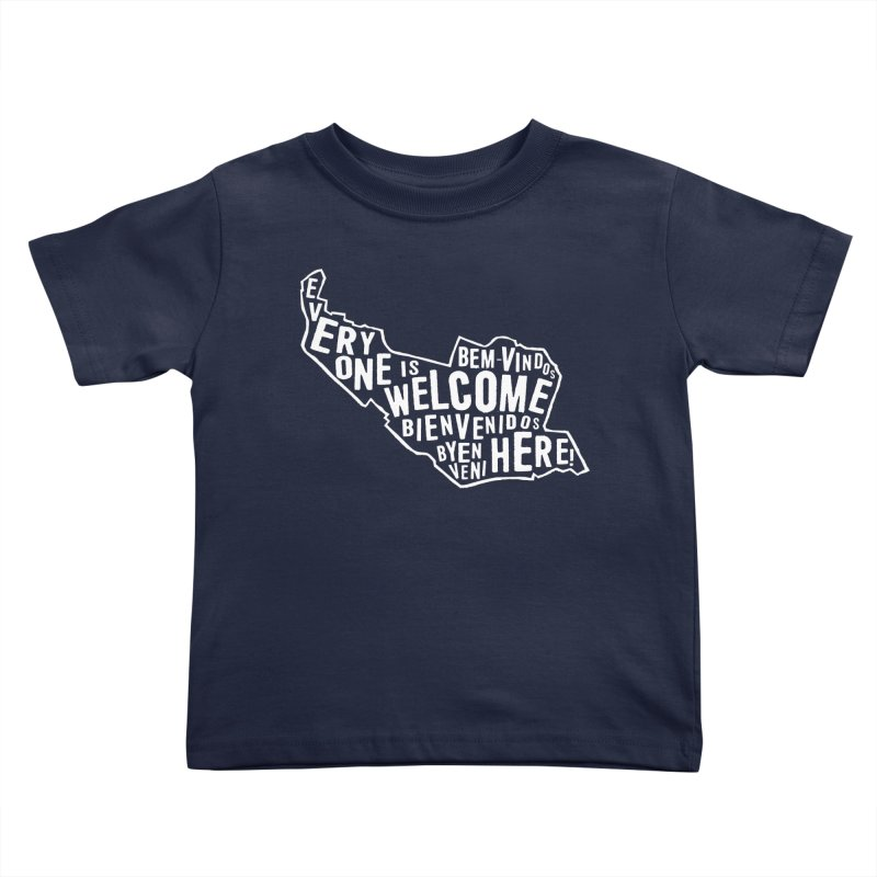 Everyone is Welcome Here - Logo White Kids Toddler T-Shirt by ESCS PTA's Shop