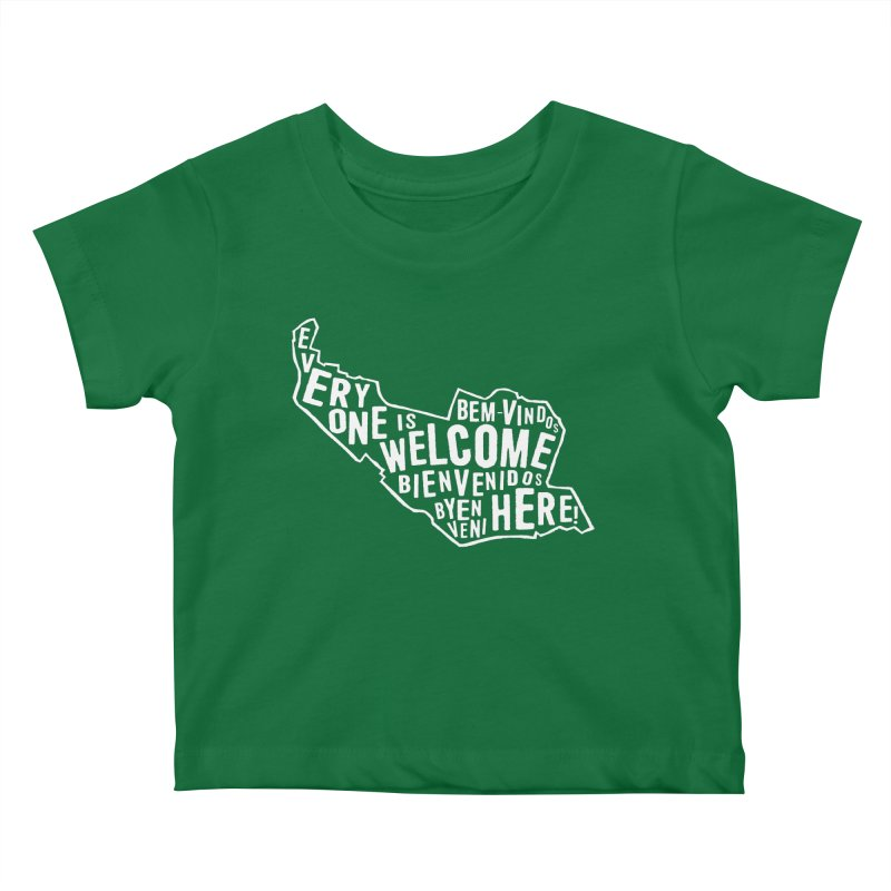 Everyone is Welcome Here - Logo White Kids Baby T-Shirt by ESCS PTA's Shop