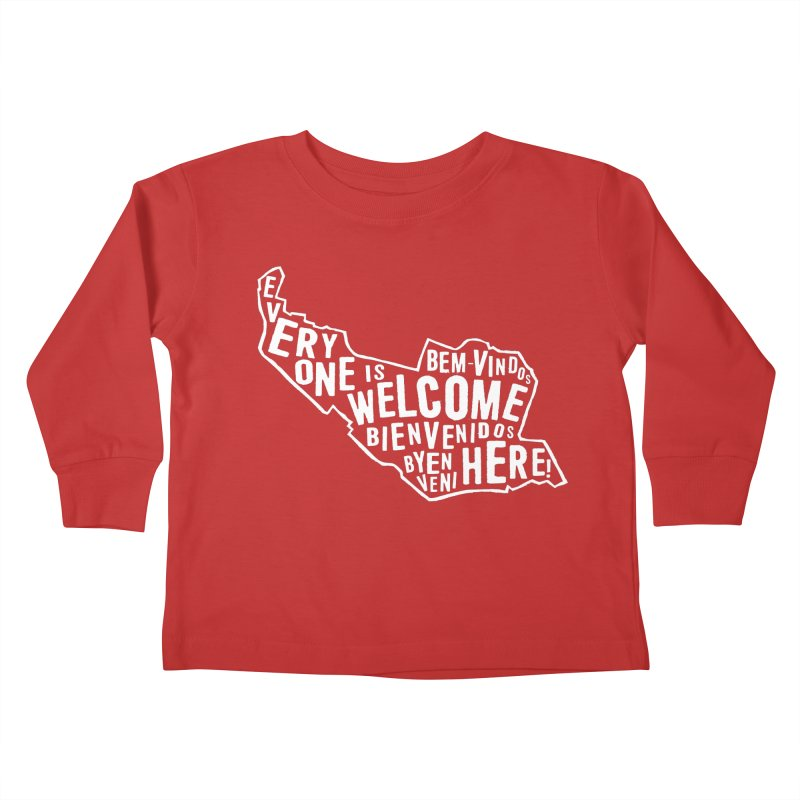 Everyone is Welcome Here - Logo White Kids Toddler Longsleeve T-Shirt by ESCS PTA's Shop