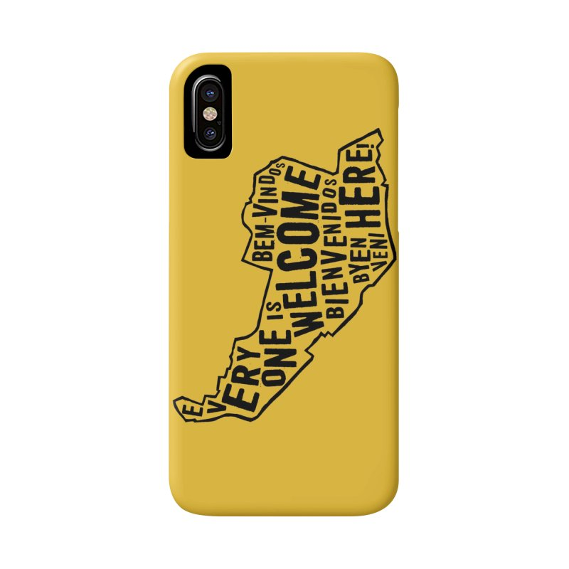 Everyone is Welcome Here - Logo Black Vertical in iPhone X / XS Phone Case Slim by ESCS PTA's Shop