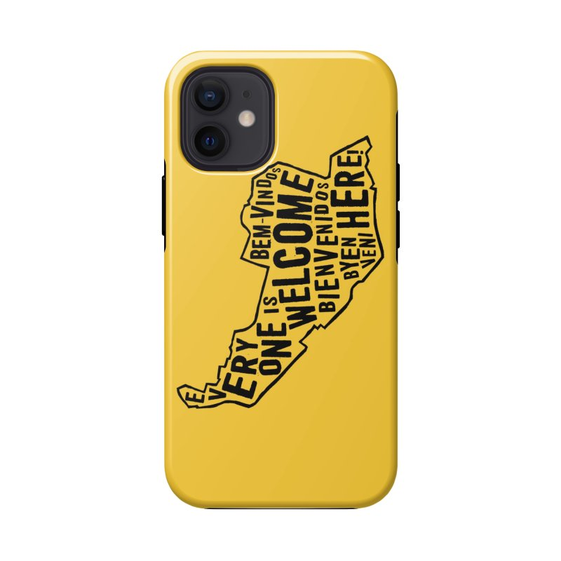Everyone is Welcome Here - Logo Black Vertical Accessories Phone Case by ESCS PTA's Shop