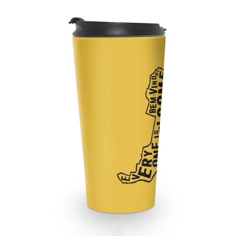 Everyone is Welcome Here - Logo Black Vertical in Travel Mug by ESCS PTA's Shop